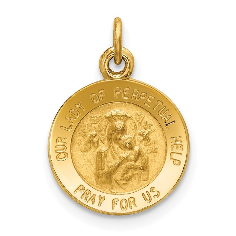 Quality Gold 14k Our Lady of Perpetual Help Medal Charm