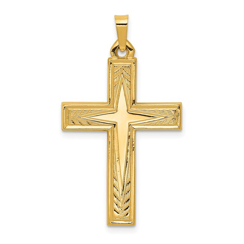 Quality Gold 14k Polished Latin Cross Pendant