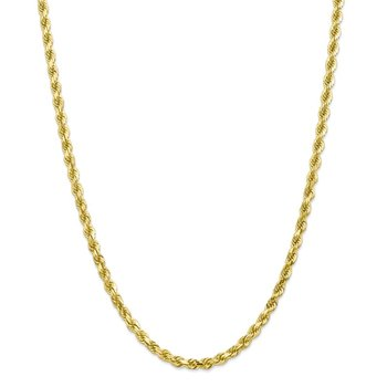 10k 4.5mm Diamond-Cut Rope Chain