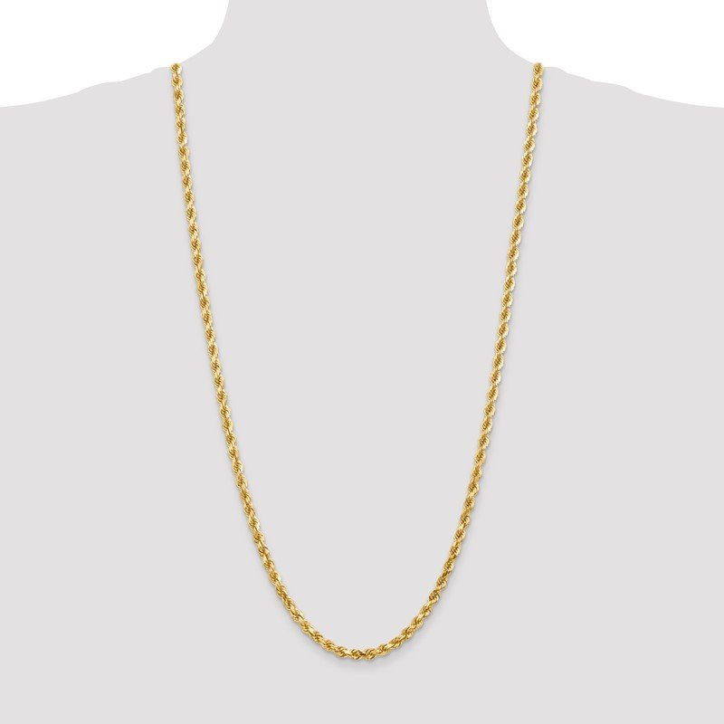 Quality Gold 10k 4.5mm Diamond-Cut Rope Chain