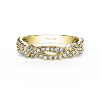 Split Shank Twisted Diamond Wedding Band