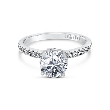 Paisley Solitare Diamond Engagement Ring