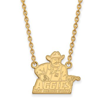 Gold-Plated Sterling Silver New Mexico State University NCAA Necklace