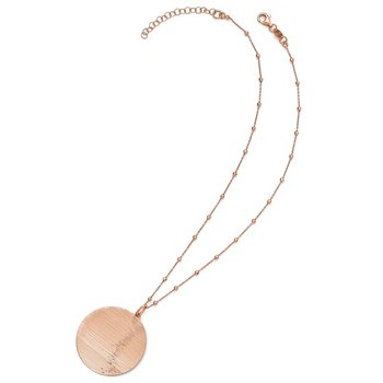 Leslie's SS Radiant Essence Rose-tone Flash 24k Plate Neck w/2in ext