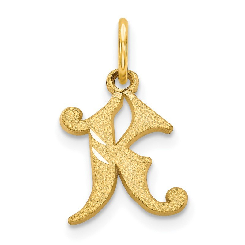 Quality Gold 14k Letter K Initial Charm
