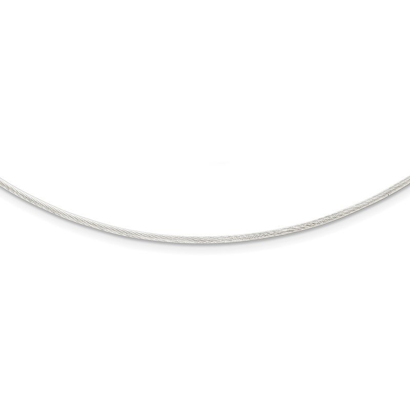 Quality Gold Sterling Silver Fancy 1.5mm Neckwire