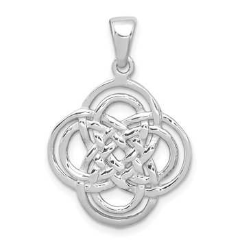 Sterling Silver Rhodium-plated Polished Pendant