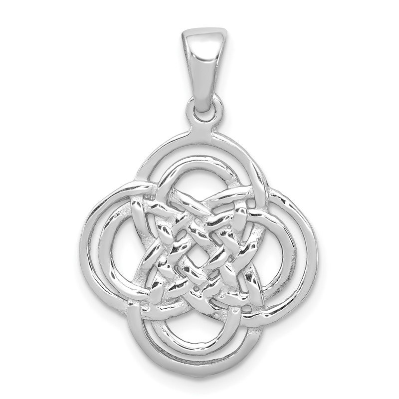 Quality Gold Sterling Silver Rhodium-plated Polished Pendant