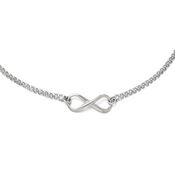 Leslie's Sterling Silver Infinity Symbol Necklace