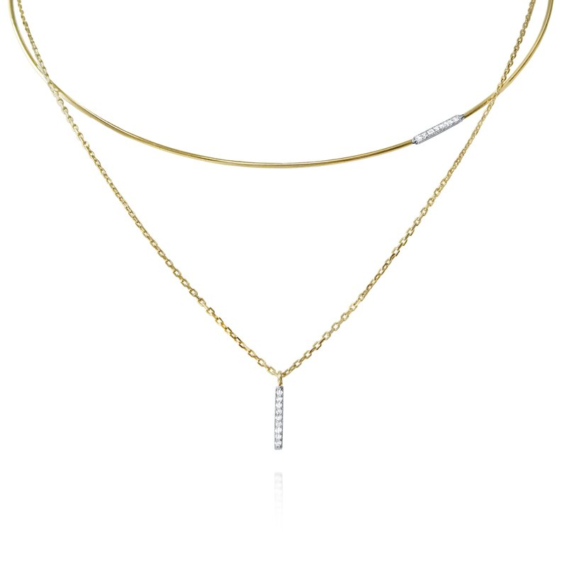 KC Designs 14K Gold and Diamond Wire Choker Necklace