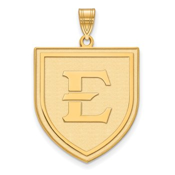 Gold East Tennessee State University NCAA Pendant