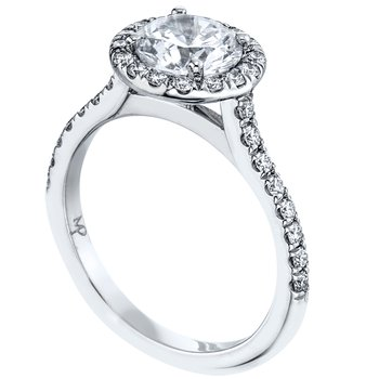 Pave Set Halo Diamond Engagement Ring