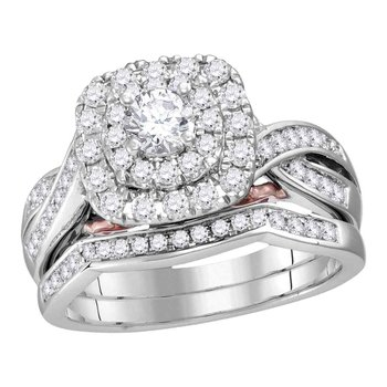 14KT 1CT-DIA 1/3CT-CRD BRIDAL SET