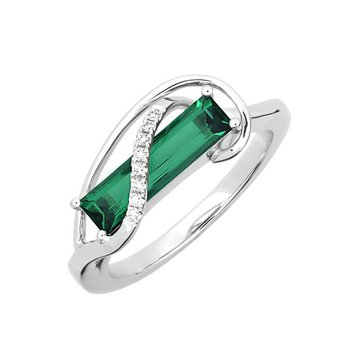 Emerald Ring-CR13120WEM