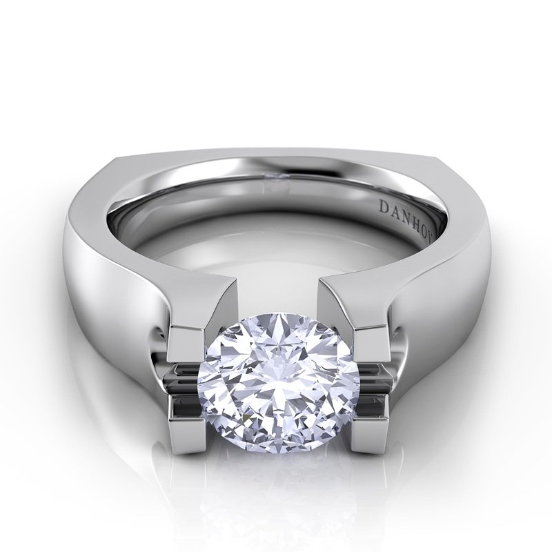 Danhov Voltaggio Single Shank Engagement Ring