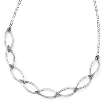 Leslie's Sterling Silver Brushed w/ 2in ext. Necklace