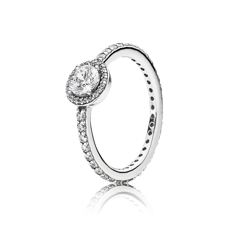 PANDORA Classic Beauty Ring, Clear Cz