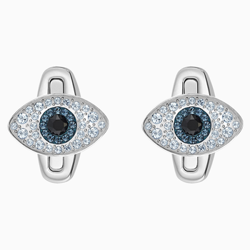 Unisex Evil Eye Cufflinks, Multi-colored, Stainless steel