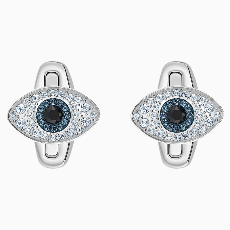 Swarovski Unisex Evil Eye Cufflinks, Multi-colored, Stainless steel