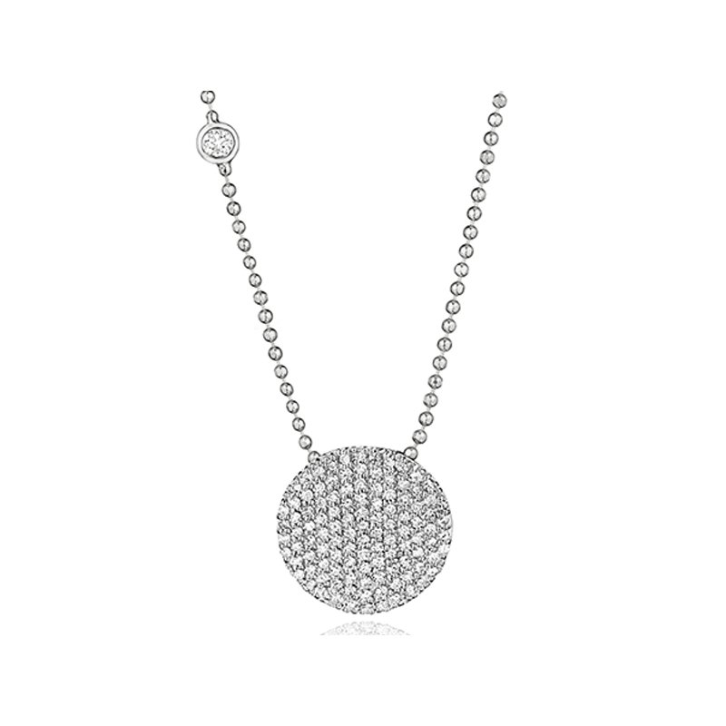 Phillips House White gold diamond Infinity necklace with a bezel-set diamond