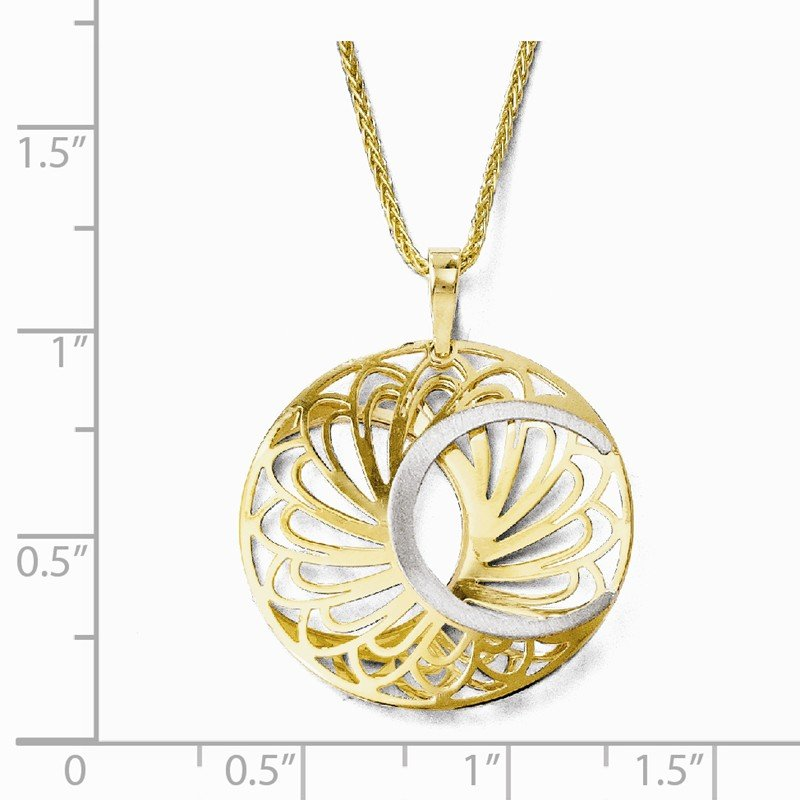 Leslie's 10K Two-tone Polished and Satin Pendant