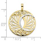 Leslie's Leslie's 10K Two-tone Polished and Satin Pendant