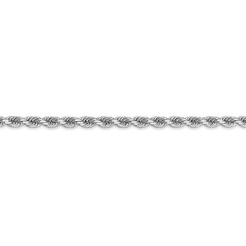 14k White Gold 3.5mm D/C Rope with Lobster Clasp Chain