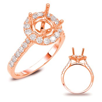 Rose Gold Halo Engagement Ring