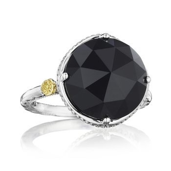 Bold Simple Gem Ring featuring Black Onyx