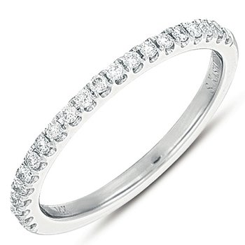 White Gold Pave Matching Band