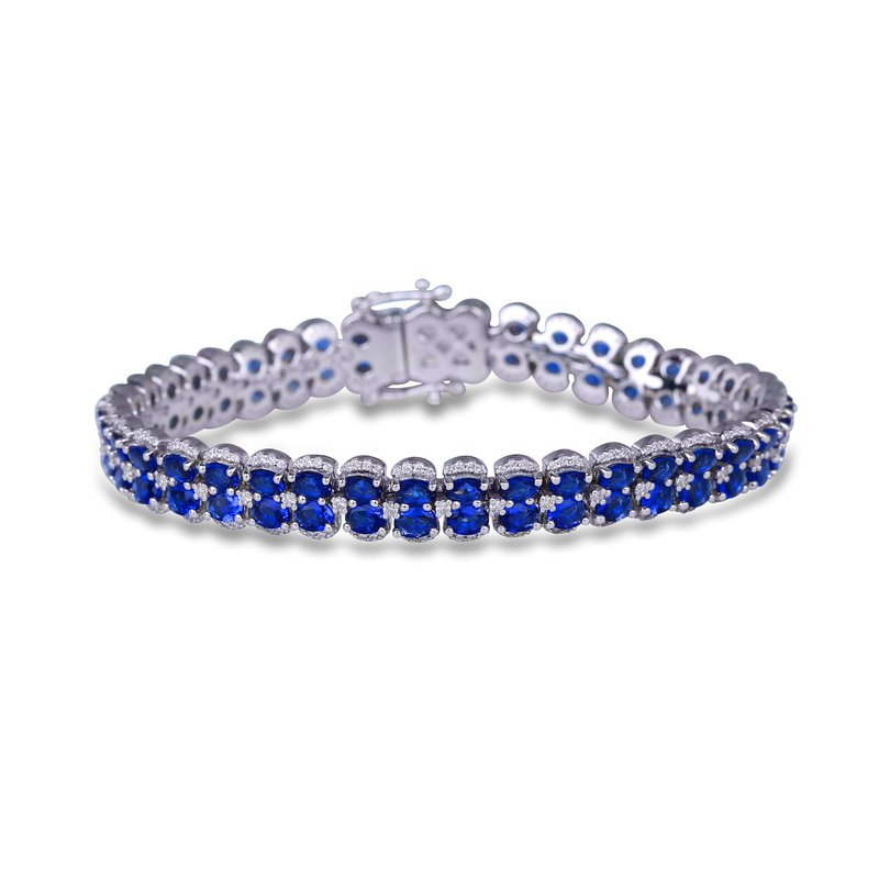 Fana Double Oval Sapphire and Diamond Bracelet
