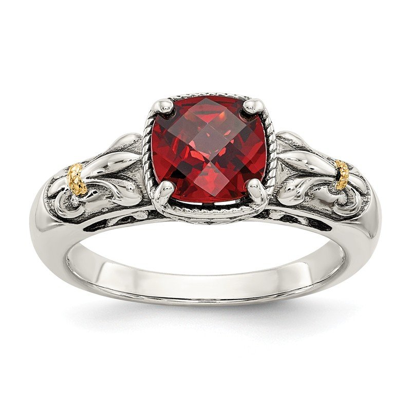 Shey Couture Sterling Silver w/14k Garnet Ring