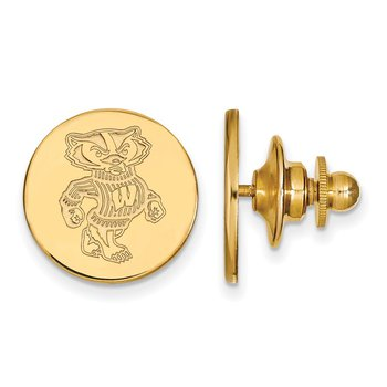 Gold University of Wisconsin NCAA Lapel Pin