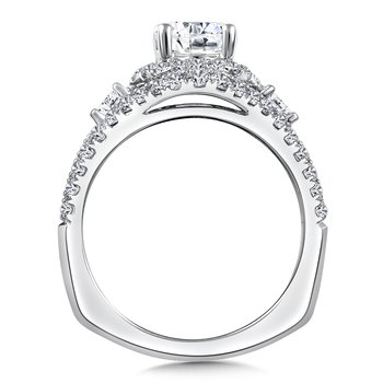 Diamond Engagement Ring Mounting in 14K White Gold (3/4 ct. tw.)
