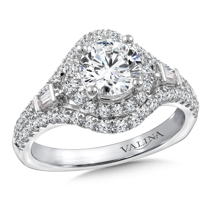 Valina Diamond Engagement Ring Mounting in 14K White Gold (3/4 ct. tw.)