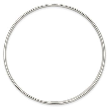 Sterling Silver 2.30mm Slip-on Bangle