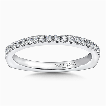 Diamond and 14K White Gold Wedding Ring (0.218 ct. tw.)