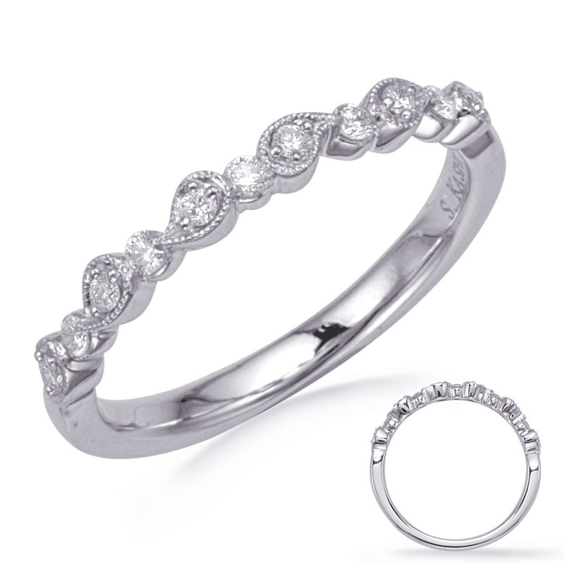 S. Kashi & Sons Bridal White Gold Diamond Fashion Band