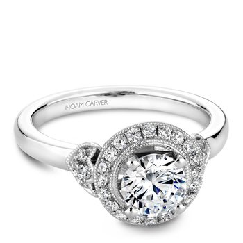 Noam Carver Floral Engagement Ring B072-01A