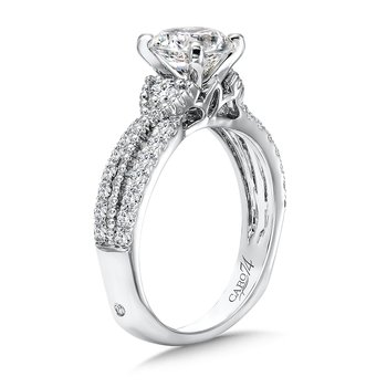 Engagement Ring With Side Stones in 14K White Gold with Platinum Head (1-1/4ct. tw.)