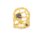 Roberto Coin 18KT CUFF RING WITH BROWN DIAMONDS