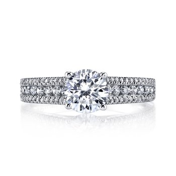 MARS 25145 Diamond Engagement Ring 0.41 Ctw.