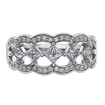 Maple Leaf Diamond Ladies Ring