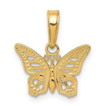 14k Cut-Out Butterfly Pendant
