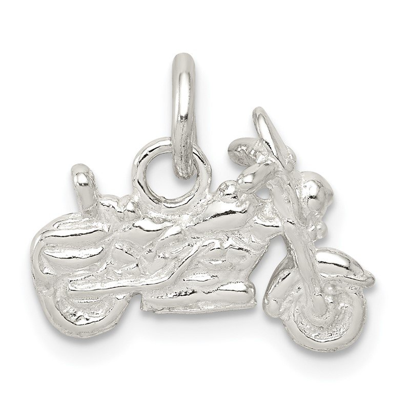 Quality Gold Sterling Silver Motorcycle Charm