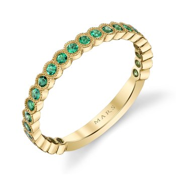 MARS 26259YGEM Stackable Ring, 0.33 Ctw.