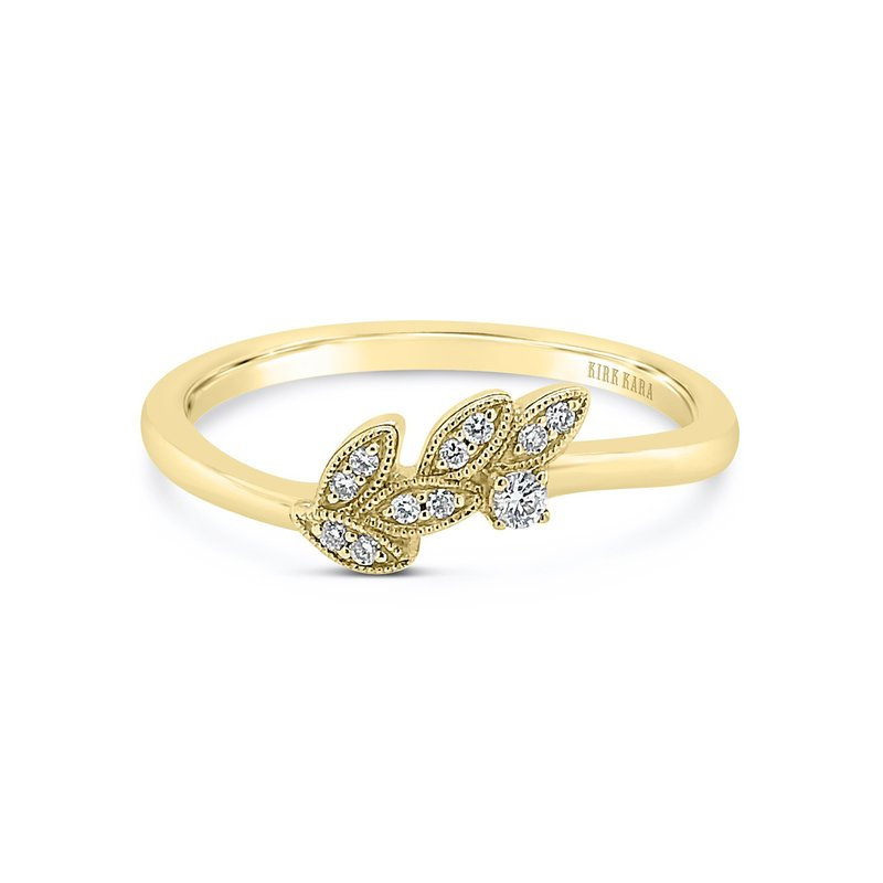 Kirk Kara Leaf Botanical Diamond Wedding Band