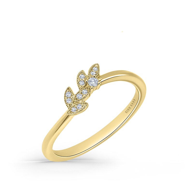 Leaf Botanical Diamond Wedding Band