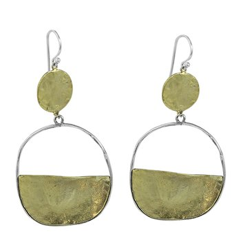 Vista Earrings - Brass & Sterling Silver