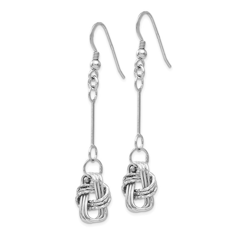 Leslie's Leslie's Sterling Silver Polished & DC Shepherd Hook Dangle Earrings